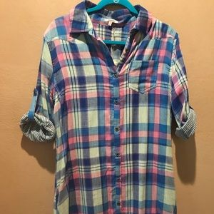 Boutique shirt dress beautiful summer colors